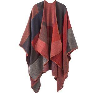 Women's Shawl Wrap Open Front Poncho Cape